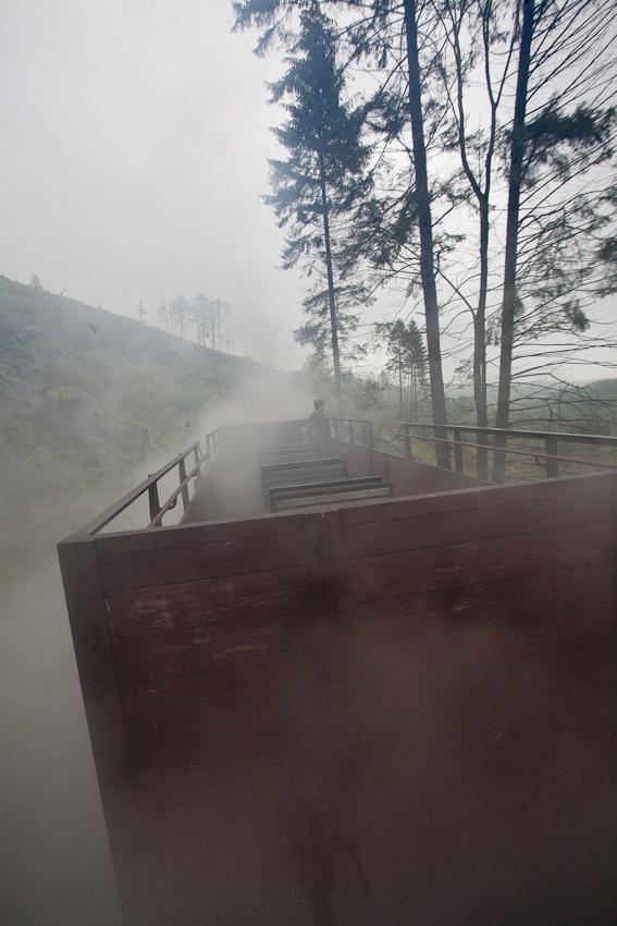 Auf dem Weg durch die Harzwälder sieht es manchmal auch etwas verschroben und unheimlich aus, die Hexen sind bestimmt nicht allzu weit und begleiten die Reisenden manchmal auf der Fahrt  zum Gipfel.