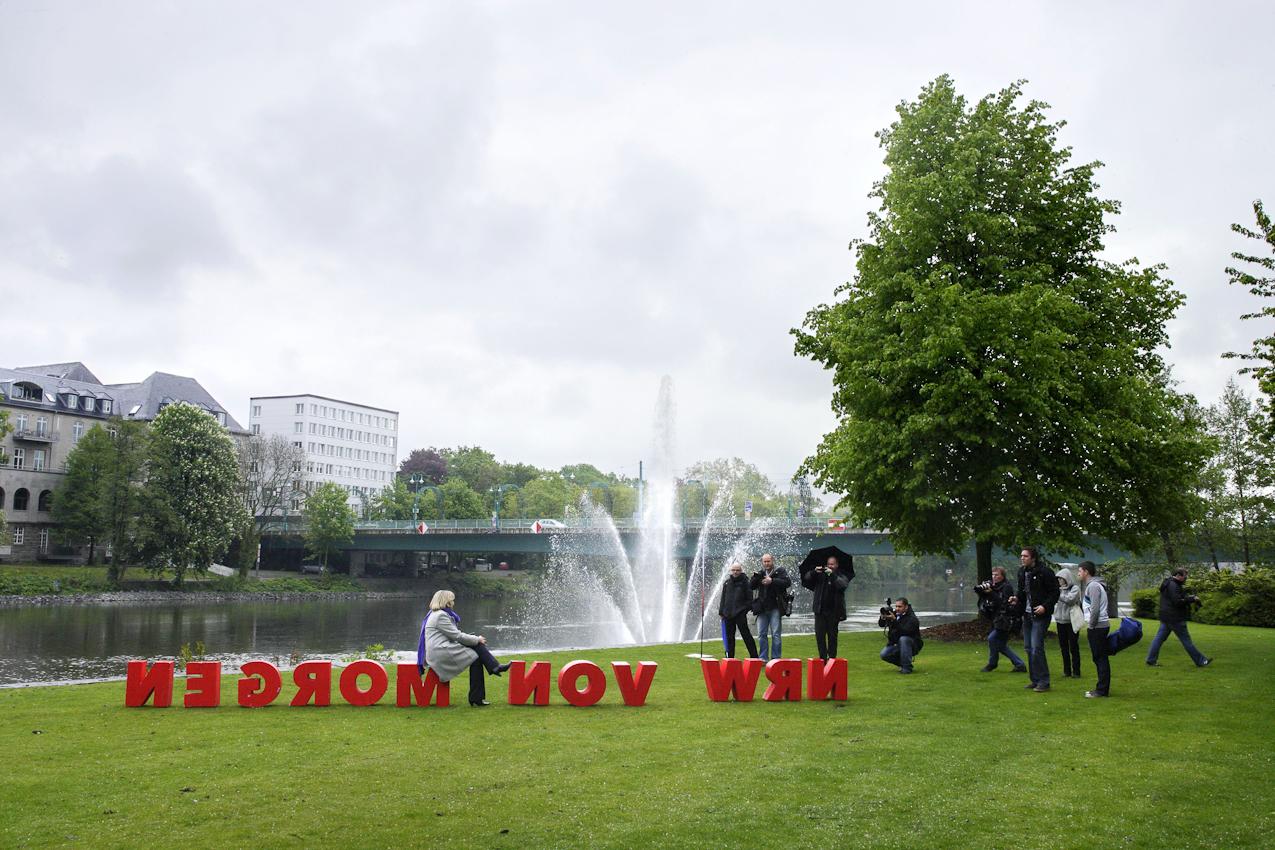 Familienfest der NRW-SPD in Mülheim an der Ruhr. Hier in der Heimatstadt von Hannelore Kraft findet zwei Tage vor der Lantagswahl, der Wahlkampf-Endspurt statt.