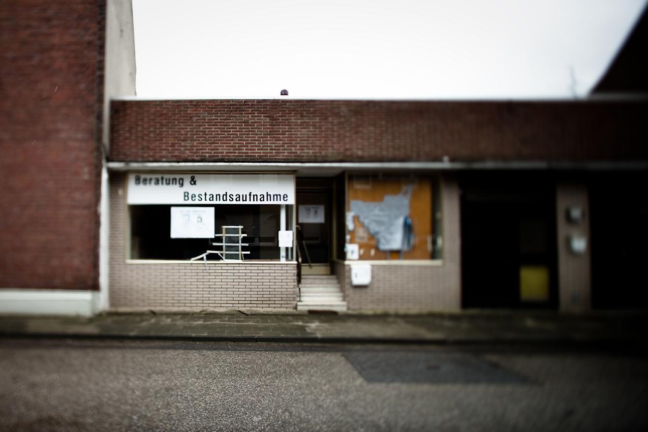Das ehemalige Bürgerbüro für die Umsiedlung von Borschemich.