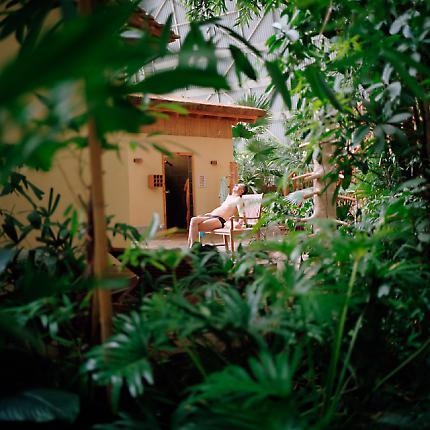 Nickerchen im Saunabereich